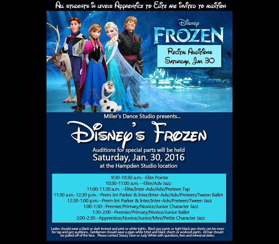 Frozen Dance Auditions