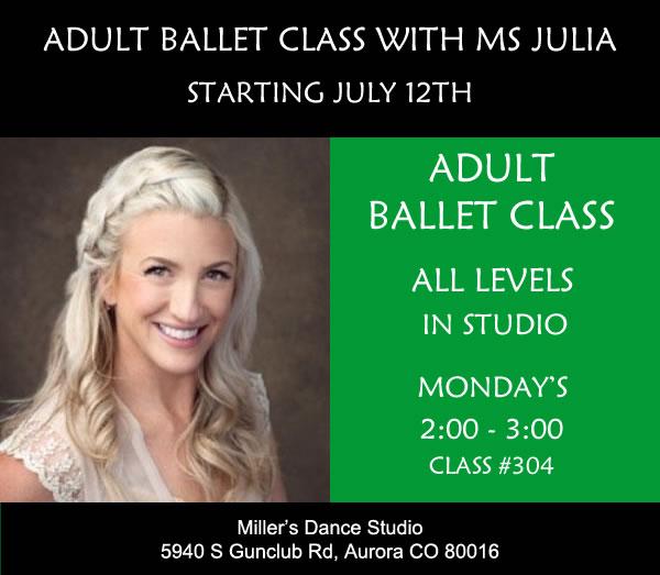 Summer Adult Ballet Class with MS Julia