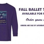 2021 Fall Ballet Dance T-Shirts Available for Preorder